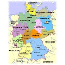 Carte Allemagne Goethe Institut.Zentrale Oberstufenprufung Etranger Formation Le