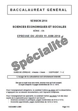 Dissertation de Français - Bac ES