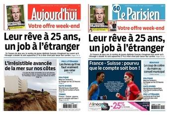 La UNE du Parisien Aujourd'hui en France du vendredi 21 novembre