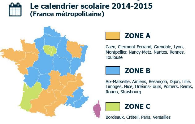 Calendrier Scolaire Bordeaux.Nouvelles Zones De Vacances Scolaires Depuis Janvier 2016