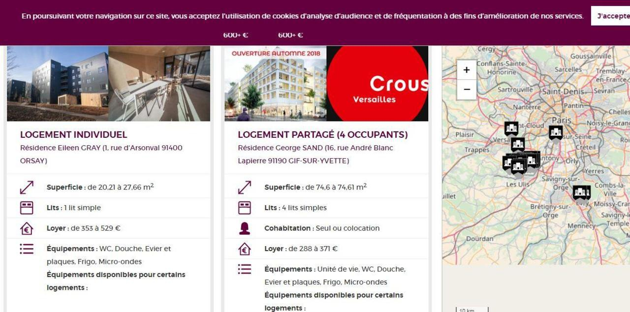 paris saclay un site internet pour trouver un logement tudiant se loger le parisien etudiant. Black Bedroom Furniture Sets. Home Design Ideas