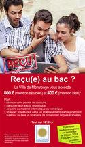 Affiche concernant la prime spéciale bac à Montrouge