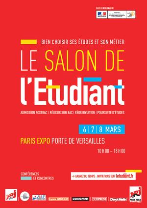 Salon de l 39 etudiant de paris parc des expositions de la for Salon de la photo paris