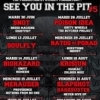 affiche DEATH BY STEREO - FESTIVAL SEE YOU IN THE PIT #5