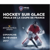 affiche FINALE COUPE DE FRANCE DE HOCKEY - SUR GLACE
