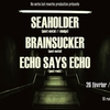 affiche Post in the cave : SEAHOLDER + Brainsucker + Echo Says Echo