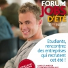 affiche Forum jobs d'été étudiants 2017