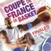 affiche FINALES COUPE DE FRANCE DE BASKET