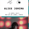 affiche Alice Jemima @ Le Pop Up du Label