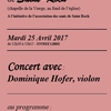 affiche Récital de Violon  Dominique Hofer