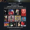 affiche Exposition United Guest Artists - Tain-l'Hermitage