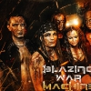 affiche BLAZING WAR MACHINE + - FRACTAL UNIVERSE + DEREALIZED