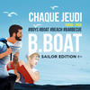 affiche BBOAT : L'afterwork gay de l'été (bateau, terrasses, barbecue)