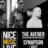 affiche THE AVENER + SYNAPSON - NICE MUSIC LIVE BY NJF