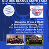 affiche Grand Concert de Chant Choral International Gratuit