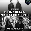 affiche FABRIKA NIGHT AVEC: - SHE PAST AWAY & LEBANON HANOVER