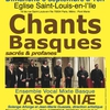 affiche Chants Basque Ensemble VASCONIÆ