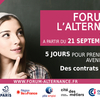 affiche Forum de l'alternance 2020 100% digital