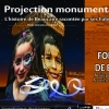 affiche Projection monumentale