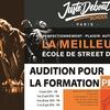 affiche AUDITIONS FORMATION PROFESSIONNELLE | JUSTE DEBOUT SCHOOL